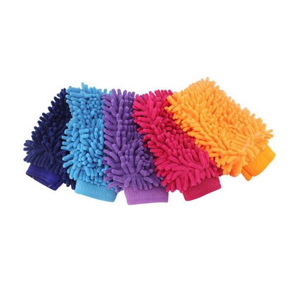 ถุงมือไมโครไฟเบอร์ สำหรับทำความสะอาดรถยนต์