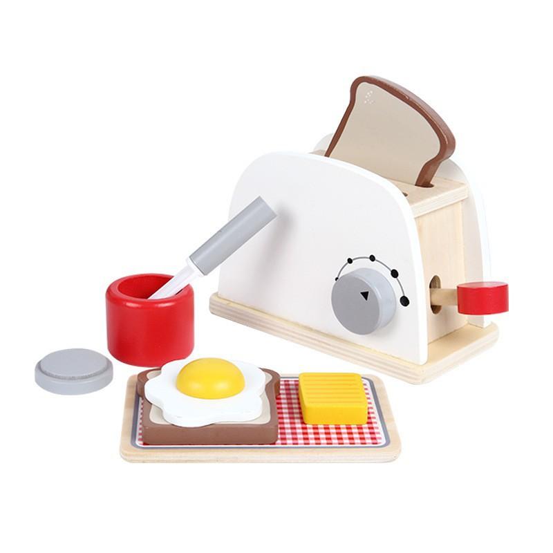 เกมสมอง ของเล่นตัวละคร พร้อมส่ง ชุดเครื่องปิ้งขนมปังสีขาว ของเล่นเด็ก ชุดเครื่องทำกาแฟสีขาว ชุดเครื่องตีแป้งสีขาว เครื่อ