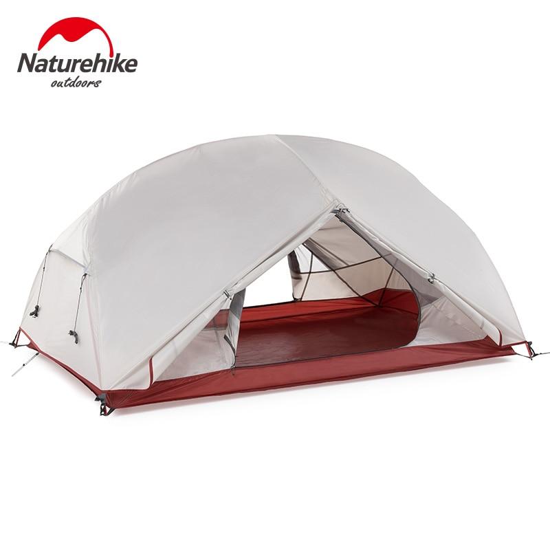 Naturehike Custom Mongar 1 2 3 People Waterproof Double Layer Outdoor Tent Aluminum Rod Gray Ultralight Single Camping T