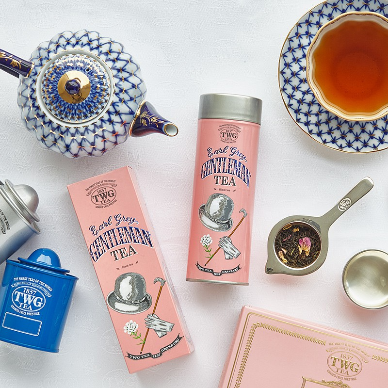 Pengyunjia TWG Tea Gentleman Earl Grey Black Tea Bergamot Rose Petals Singapore นำเข้าของฝาก