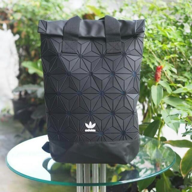 🐩Adidas Originals BP Roll Top 3D Mesh 2017🐩 Black Backpack Bag DH0100