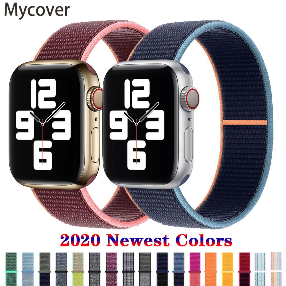 สายนาฬิกาข้อมือไนล่อนถักสําหรับ Apple Watch Band 44 มม . 40 มม . 38 มม . 42 มม . Iwatch Series 6 Se 5 4 3 2 1