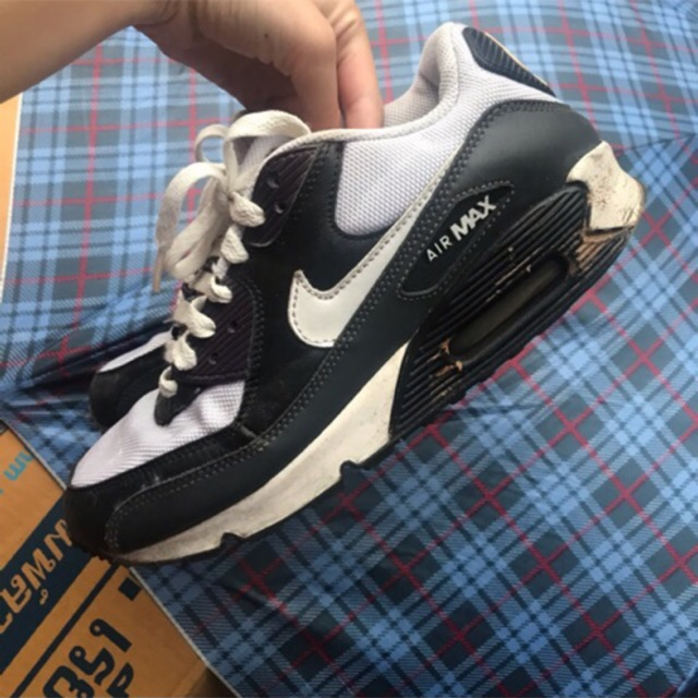 Nike airmax 90 ม่วงดำขาว มีตำหนิ