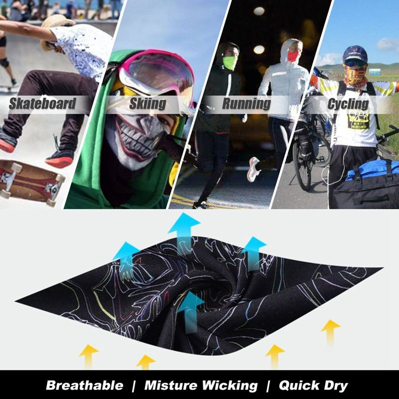 3D digital printing digital towel mask black bear seamless sun protection m