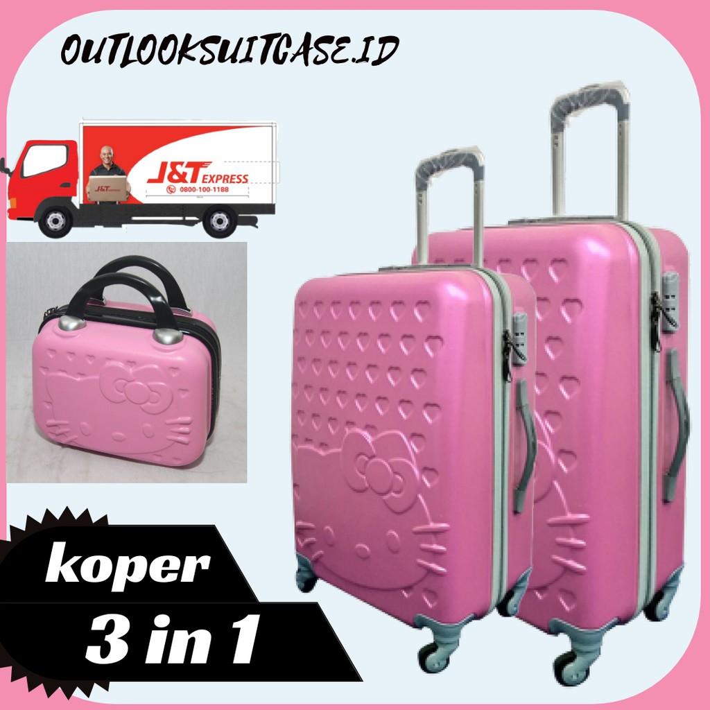 กระเป๋าเดินทาง (can 3 Luggages) Abs 24 นิ้ว + เคส Abs 20 นิ้ว + เคสกระเป๋า 12 นิ้ว