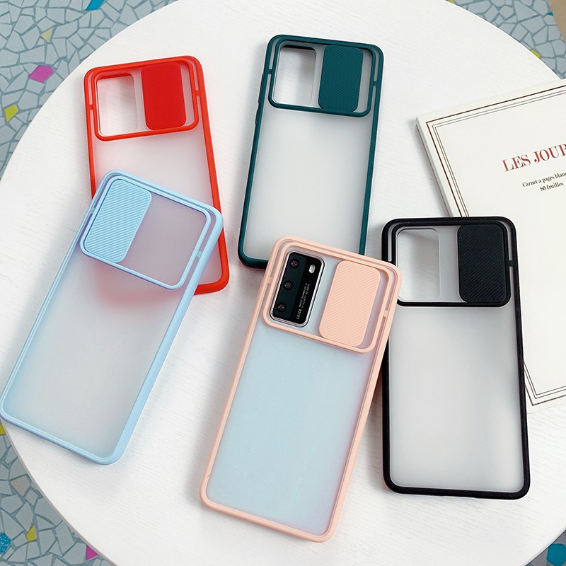 Push Pull Protection Candy Transparent Case Infinix HOT 8 9 X650 X656 HOT8 HOT9 infinix note 7 lite Casing Shockproof Phone Cover
