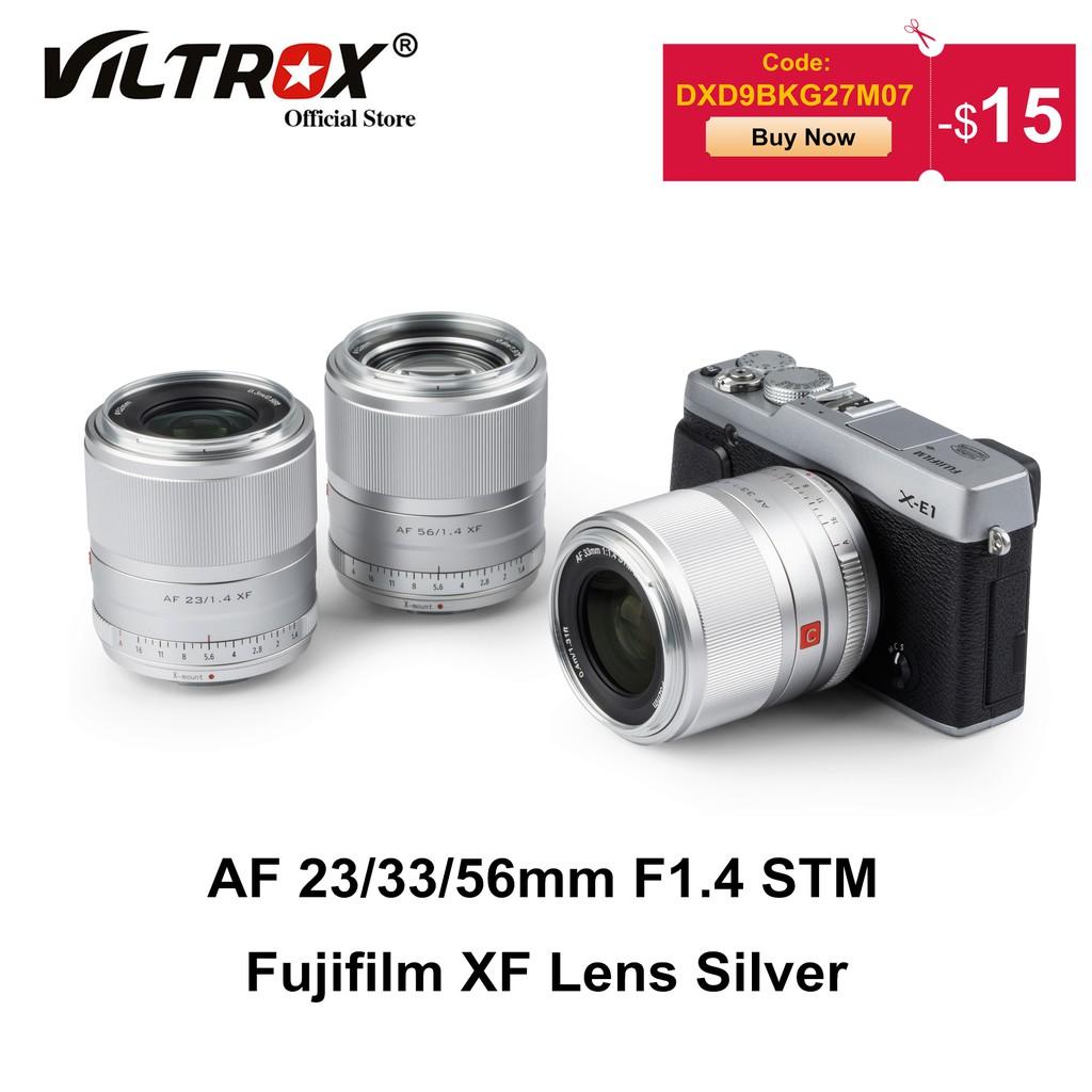 # เลนส์กล้องวิดีโอดิจิตอลViltrox 23/33/56mm F1.4 Silver Lens Auto Focus Large Aerture ortrait Lens for Fujifilm Fuji XF