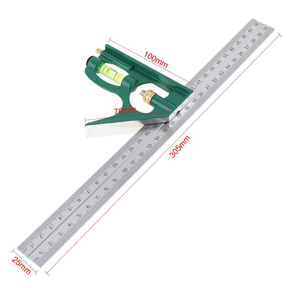300mm Ruler Multi Combination Square Angle Finder Protractor Spirit Level Set Z