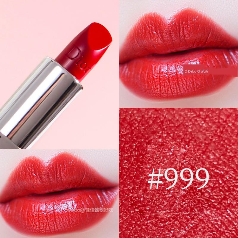 Dior ลิปสติกDior Lipstick Moisturizing 999 Matte 888 Sample Mini Flame Blue Gold Color-changing Big Brand Genuine