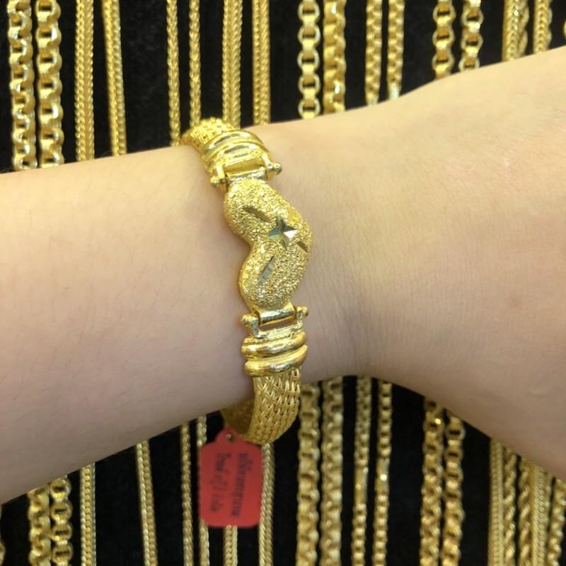SSW GOLD กำไลข้อมือทอง 96.5% น้ำหนัก 2 บาท ลายหัวใจขาสาน