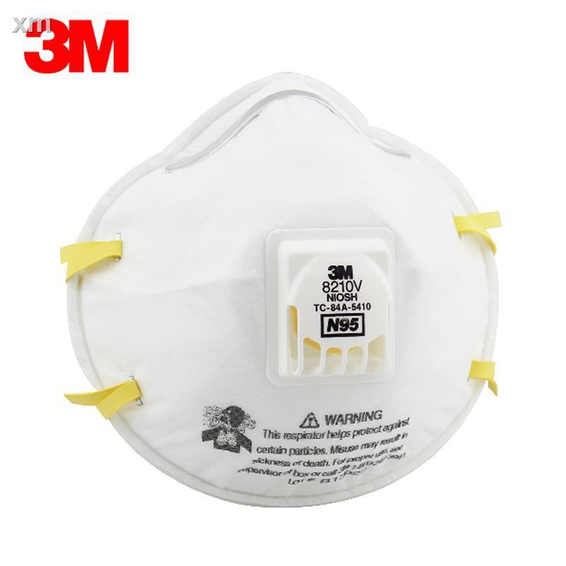 ✙♚☈10 ของแท้ 3M 8210V N95 หน้ากากป้องกันฝุ่นละออง PM2.5
