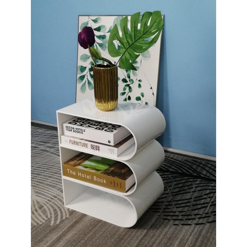 ONELUX  Acrylic magazine holder desktop modern simple living room ground storag shelving books and newspapers organizer