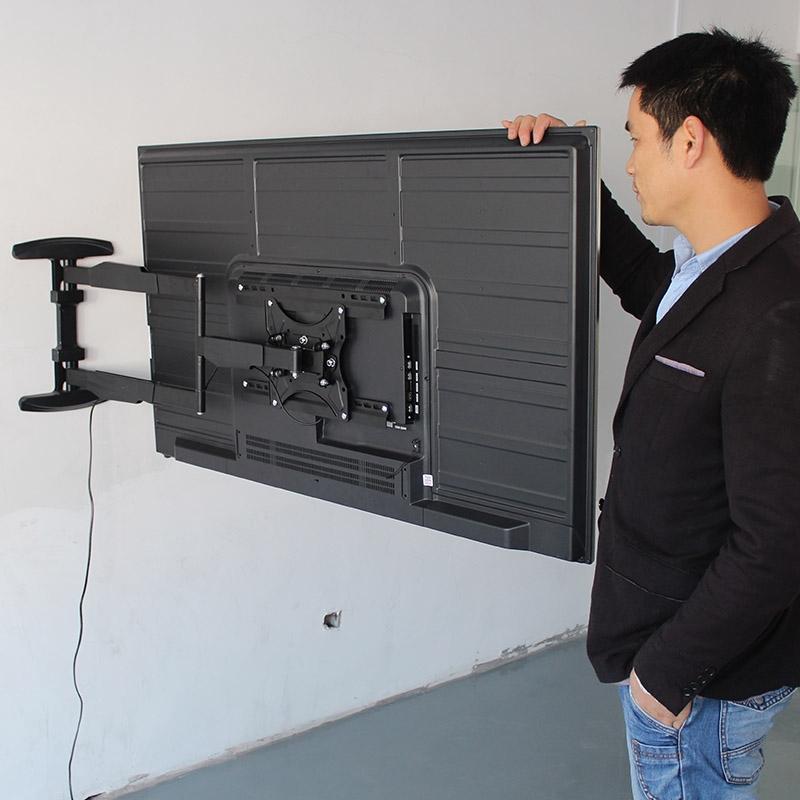 วางทีวีที่แขวนทีวีLCDขาตั้งทีวีแบบยืดหดได้90องศาหมุนแขวนผนังวงเล็บ32-65-ลูกเดือยนิ้ว4CSkyworth