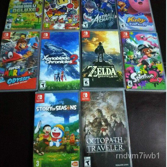 แผ่นเกมส์ NintendoSwitch มือสอง Kirby,Zelda,Mario,Octopath,Splatoon2,Xenoblaed,AstralChain,Doraemon,Bomberman,Arms,Smash