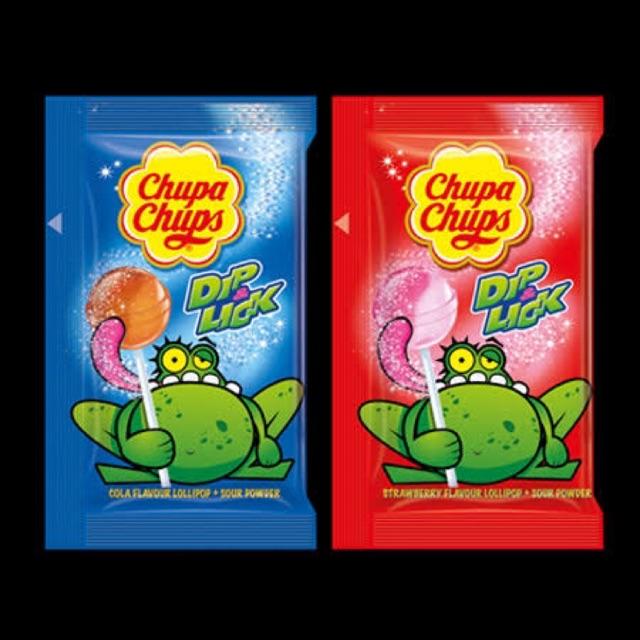 🍭Chupa Chups dip and lick 🍭 จูปาจุ๊บ อมยิ้ม พร้อมผงดิป