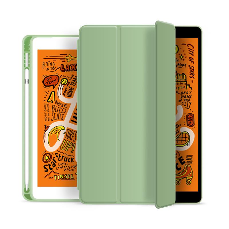 ipad เคส ipad 2019 gen7 10.2 mini4/5  พร้อมช่องใส่ Apple Pencil  เคสไอแพดใส่ปากกาได้ smart case cover
