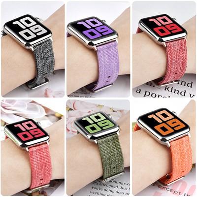 ど❇สายนาฬิกา Apple Watch สำหรับ applewatch S5สายนาฬิกา Watch กีฬาทอละเอียด1/2/3/4/5 /se/ 6รุ่น unisex iPhone Series แฟชั่