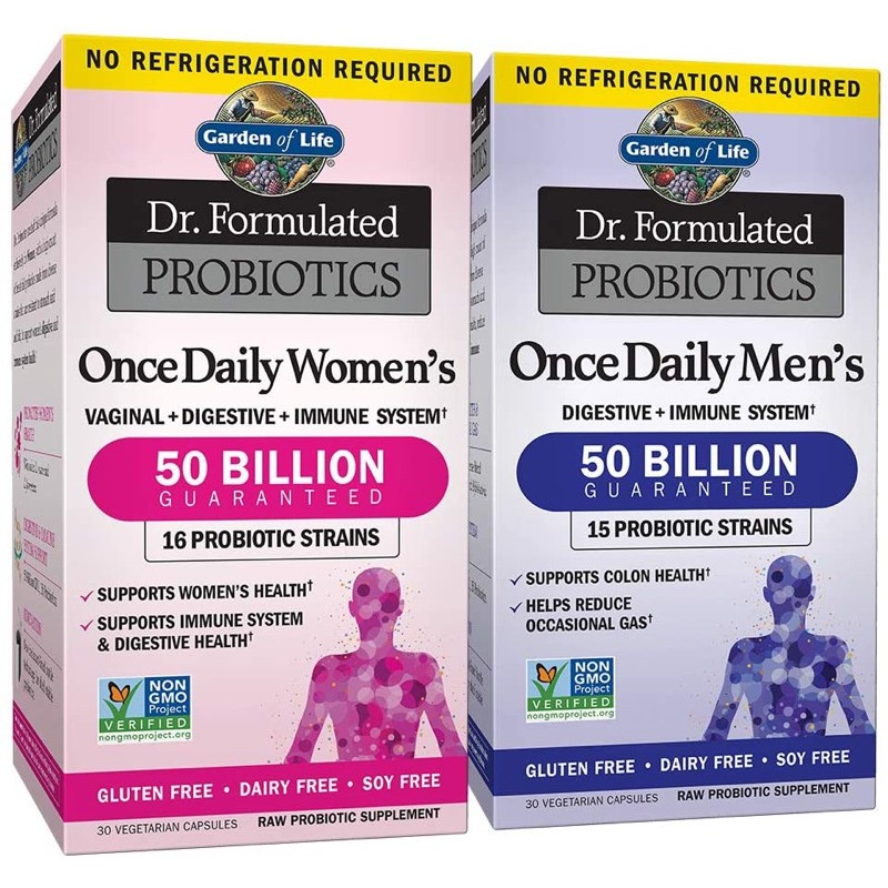 Garden of Life Dr. Formulated Probiotics Once Daily Women's & Men's Shelf Stable 30 Capsules