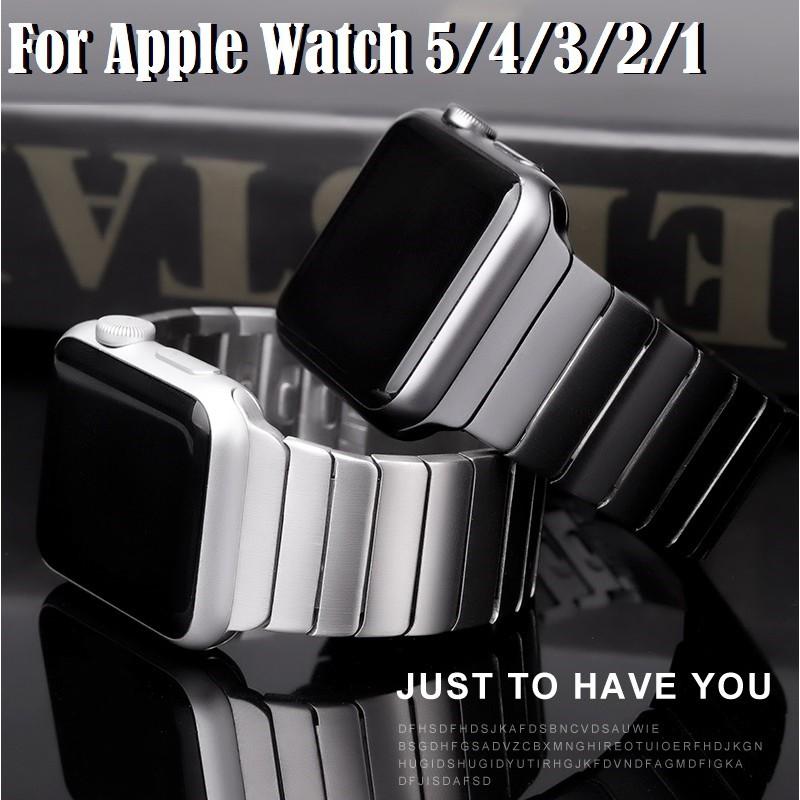 Luxury สายนาฬิกา Apple Watch เหล็กกล้าไร้สนิม สาย Applewatch Series 6 5 4 3 2 1,  Apple Watch SE size 38mm 40mm 42mm 44m