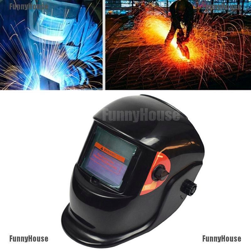 Multi Color Auto Darkening Welding Helmet Mask Grinding Function Solar Power Arc