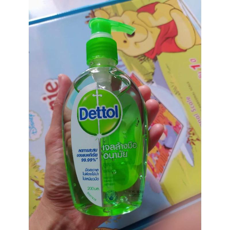 Dettol เจลล้างมืออนามัย ขนาด 200 มล. ไม่ต้องล้างออก