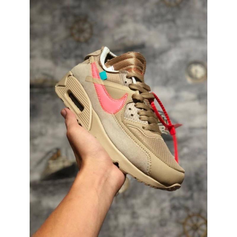 Nike Airmax 90 Off รองเท้าผ้าใบลําลองสีขาว