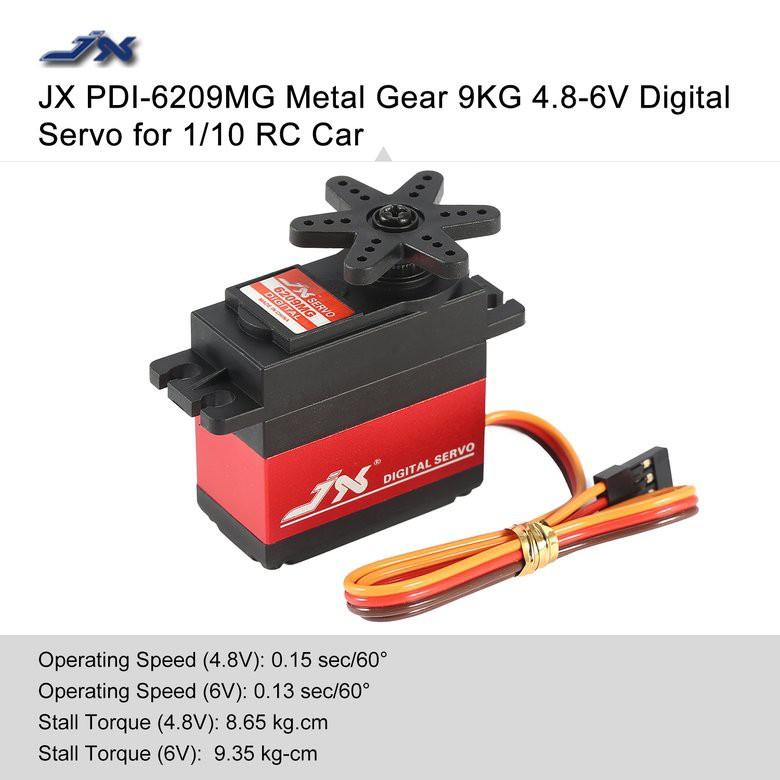 💎JX PDI-6209MG Metal Gear 9KG 4 8-6V Core Motor Digital Servo for 1/10 RC  Car