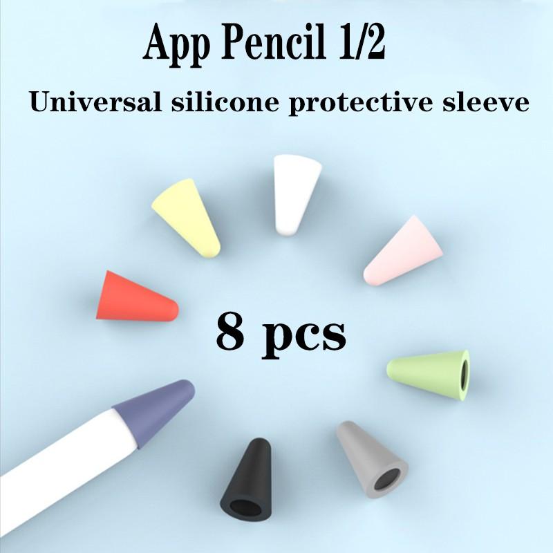 2-8 ชิ้น Apple Pencil 1st 2nd Soft Silicone Protective Cap Touchscreen Stylus Pen Case ปลอกปากกา Apple Pencil ปากกาทัชสกรีน เคสไอแพด ปากกาเขียนไอแพด