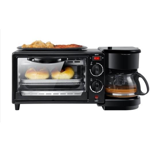 เตาอบไฟฟ้า 3 in 1 เตาอบตั้งโต๊ะ เตาอบ เครื่องต้มทำกาแฟ อเนกประสงค์ เตาอบขนมปัง ขนาดเล็ก เตาอบราคาดี *พร้อมส่ง*