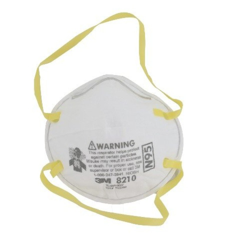 3M หน้ากากป้องกันอนุภาคฝุ่นละออง รุ่น 8210 (N95)มาตรฐาน NIOSH-N95 h4eG
