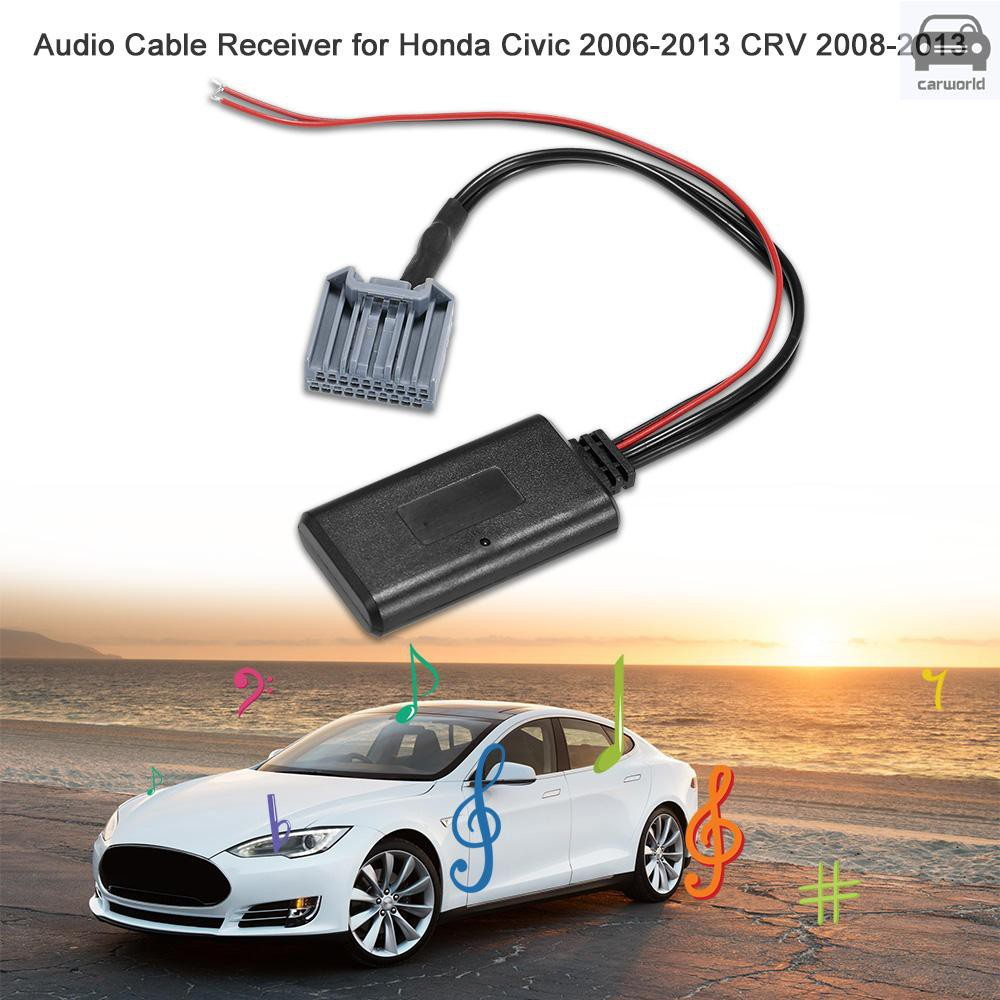 KKmoon Car AUX Audio BT Adapter with Microphone Replacement for BMW X3 X5 Z4 E83 E85 E86 E39 E53