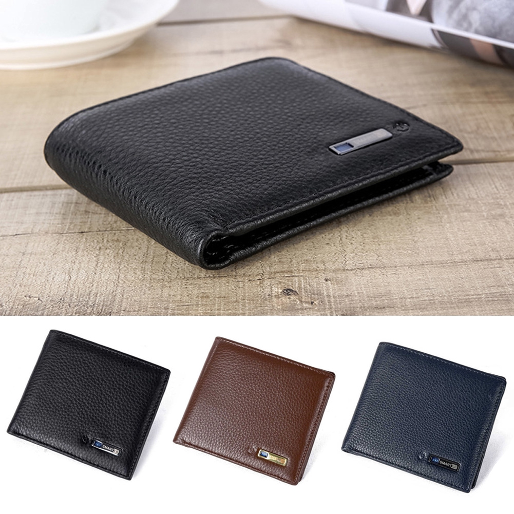 aa160d006605 Smart Bluetooth Wallet Fabala Anti-lost Anti-theft Tracker Purse Artificial  Cowhide Leather Short GPS Locator