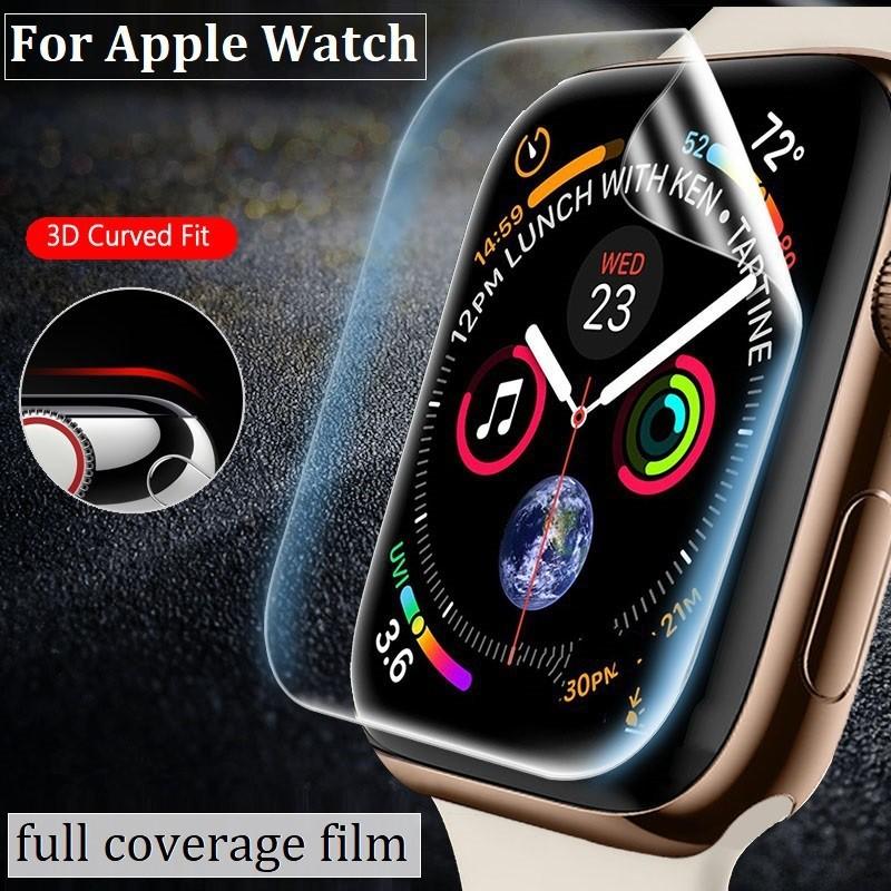 ✥ฟิล์ม เต็มจอ ลงโค้ง โฟกัส ฟิล์ม สำหรับ AppleWatch Sport Series 1 / 2 / 3 / 4 / 5/6 SE Nike s TPU Film Applewatch ฟิล์ม♝
