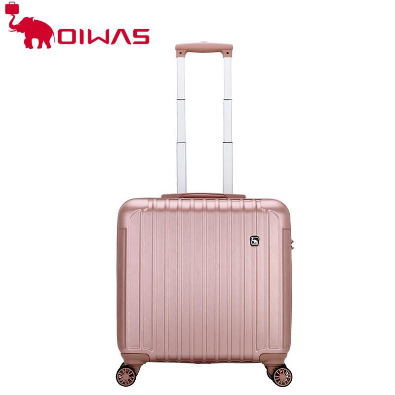 ของแท้ Ai Shi ที่มีน้ำหนักเบา16นิ้วเครื่องขยายกระเป๋าเดินทางขนาดเล็กหญิงเดินทางขนาดเล็กมินิแบบพกพากล่องรถเข็นชาย