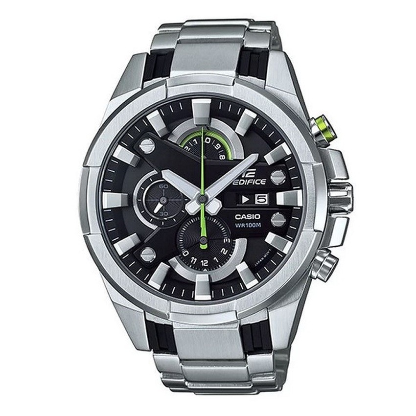 Casio Edifice chronograph นาฬิกาข้อมือ สายสแตนเลส รุ่น EFR-540D-1AVUDF - Silver/Black