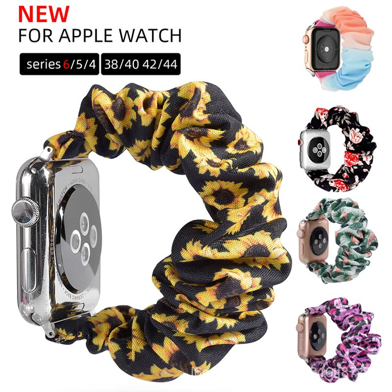 Scrunchie Elastic Watch Straps for Apple Watch 6 SE Band 38mm 40mm 42mm 44mm for Iwatch  Series 5 4 3  Bracelet Gift ins