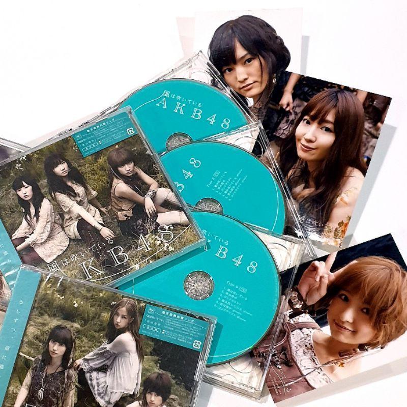 """⭐NEW STOCK⭐AKB48 23rd Single """"Kaze wa Fuiteiru"""" (風わ吹いている) Regular TypeA&B CD+DVD พร้อมรูปเรกุ"""