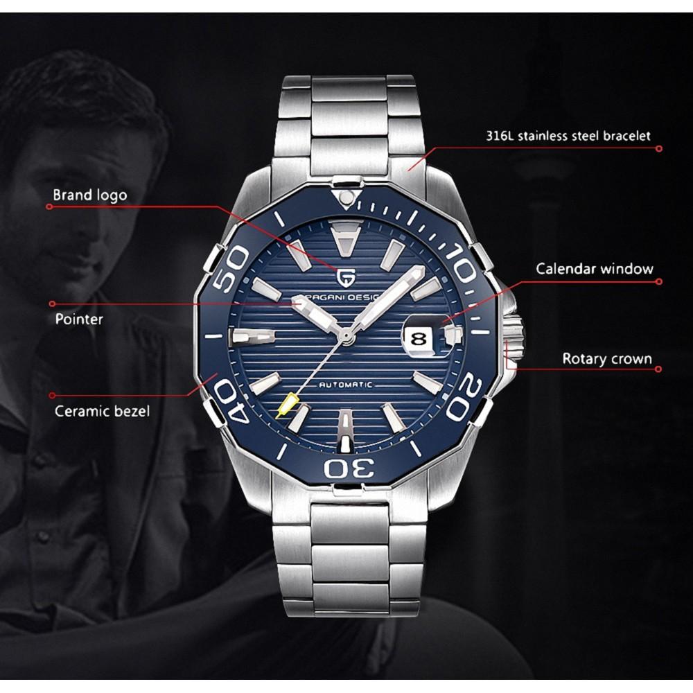 Blue Pagani Design PD-1617 Luxury Men Watch Men's Watches Waterproof