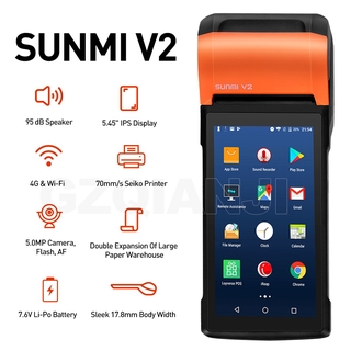 please COD SUNMI V2 V1s PDA Android Handheld POS Terminal With 58mm Thermal Receipt Printer cash registers For Mobile Or