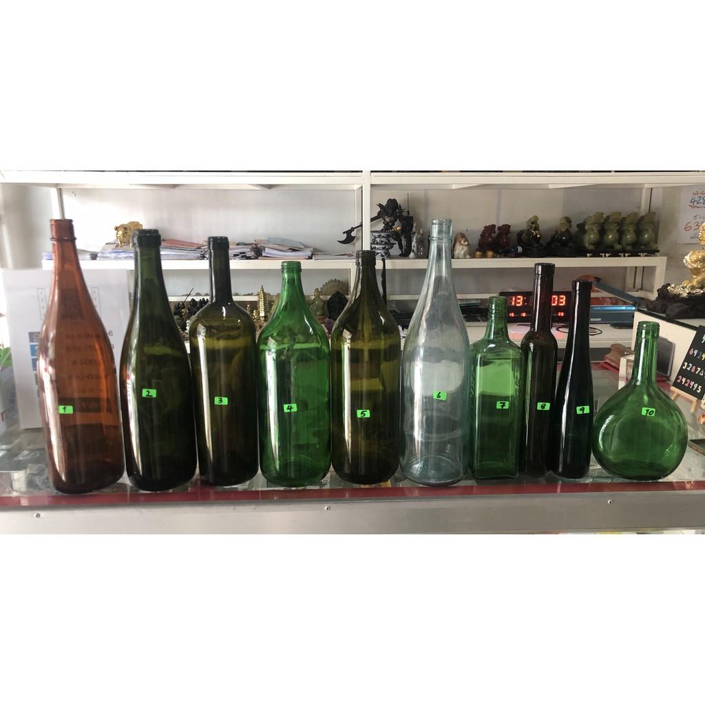 ขวดเหล้าแก้วสวยงาม1-20 ตกแต่งร้านค้า โชว์ในตู้ทำการฝีมือ
