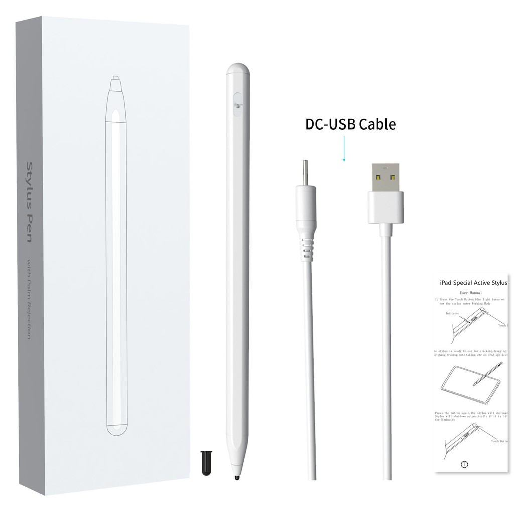 applepencil applepencil 2 ปากกาทัชสกรีน android สไตลัสb ✢☼✷Huawei Matepad Stylus M6 แท็บเล็ต Enjoy 2 Capacitor Pen M5