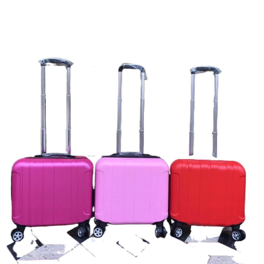 ∈┇【Hot】 กระเป๋าเดินทางขนาด 14 นิ้วสำหรับฤดูใบไม้ผลิและฤดูใบไม้ร่วง กระเป๋าเดินทางล้อลากสากลขนาด 16 นิ้ว กระเป๋าเดินทางชา