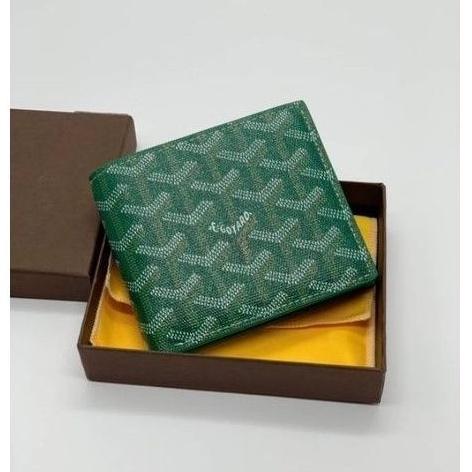 Goyard Victoire Wallet Goyardine Original Green