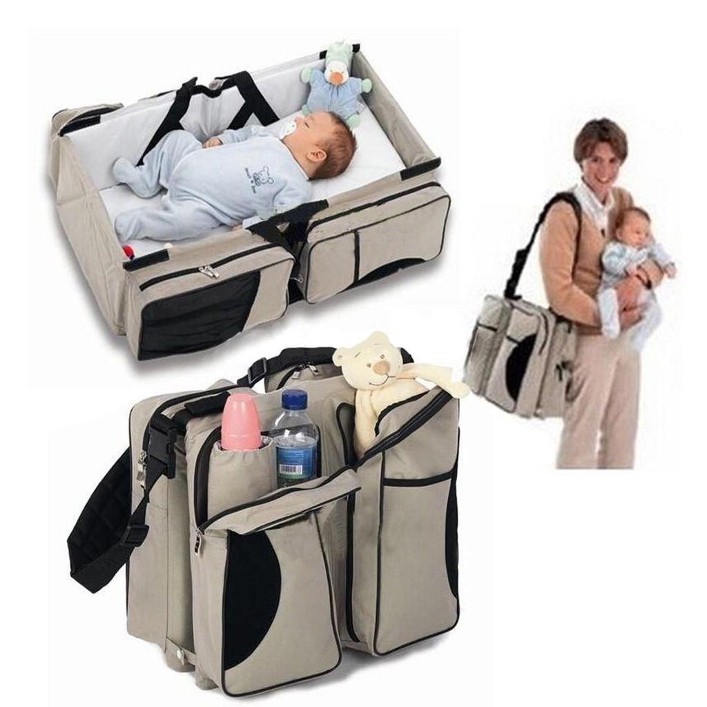 การค้าต่างประเทศทารกแรกเกิดเดินทางแบบพกพาเตียง กระเป๋าเดินทางสไตล์เปล/เตียงเด็กอ่อน กระเป๋าคุณแม่สามารถแก้ไขได้