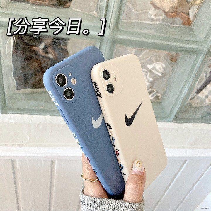 ยางยืดออกกําลังกาย♗○(มือถือ ฟิล์มนิรภัย)  ด้านข้างเคสโทรศัพท์มือถือ Nike Huawei mate40 p30 / 20pro ซิลิโคนเหลว nova7se