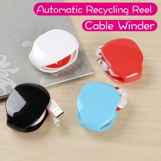 Review Charging Cable Winder Earphone Cable Winder Automatic Recycling Reel Small and Portable Mini
