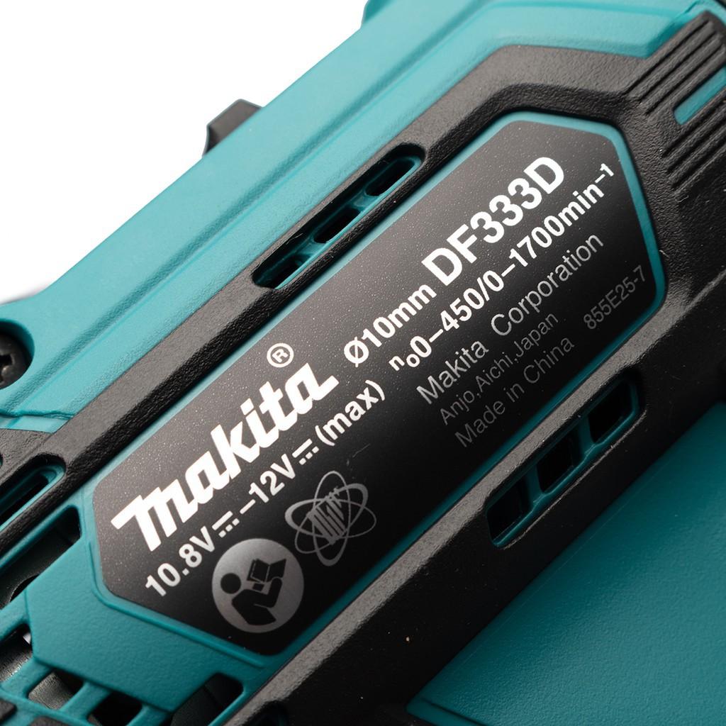 สว่านไฟฟ้าไร้สาย สว่านไฟฟ้า สว่านไร้สาย MAKITA DF333DWYE สว่านไขควงไร้สาย MAKITA 12V พร้อมอุปกรณ์ MAKITA รุ่นใหม่ DF333