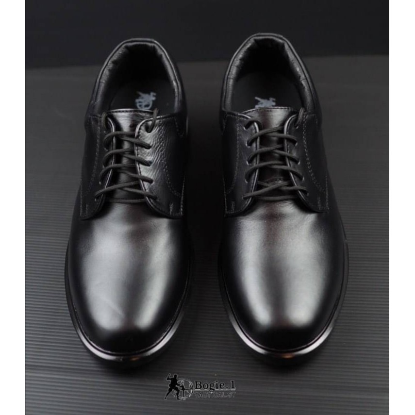 Bogie 1(โบกี้1)รองเท้าคัชชู ผู้ชาย สีดำ รองเท้าผุกเชือก