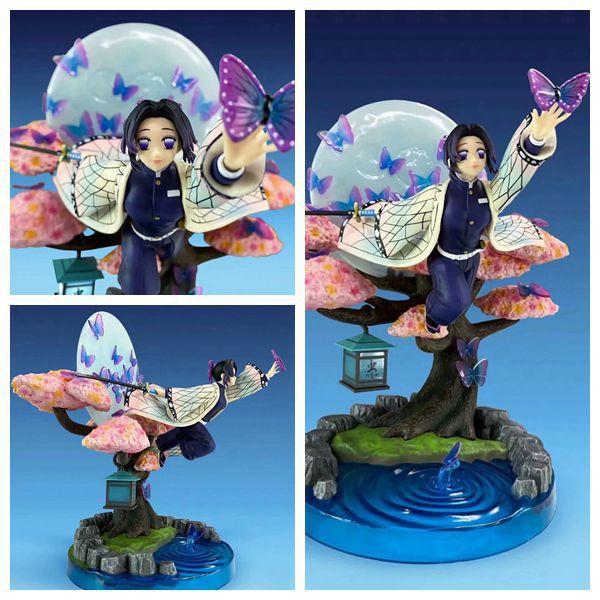 นักล่าปีศาจAnime Demon Slayer Figure 31cm Kimetsu no Yaiba Kamado Tanjirou Nezuko Kochou Shinobu GK Anime VC Action Figu