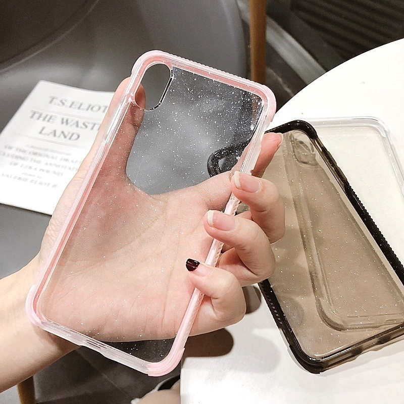 เคสโทรศัพท์มือถือแบบใสสองชั้นกันลื่นสําหรับ iphone 6 6 s 7 8 plus xs max xr 11